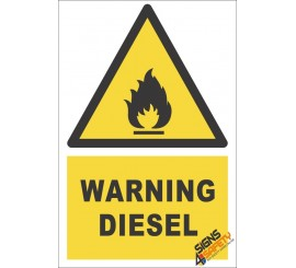 Diesel Warning Sign