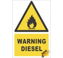 Diesel Warning Sign