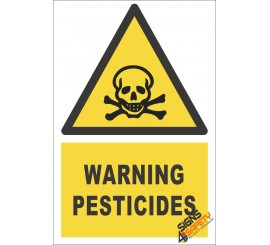 Pesticides Warning Sign