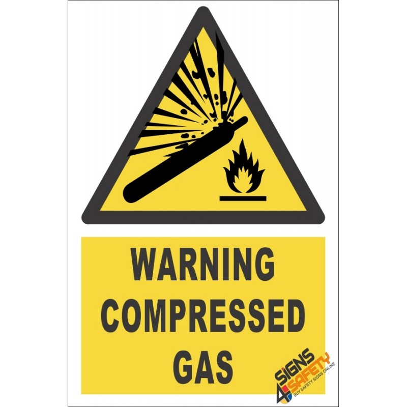 Nosa Sabs Compressed Gas Warning Sign Farm Signs South