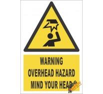 Overhead Hazard Warning Sign