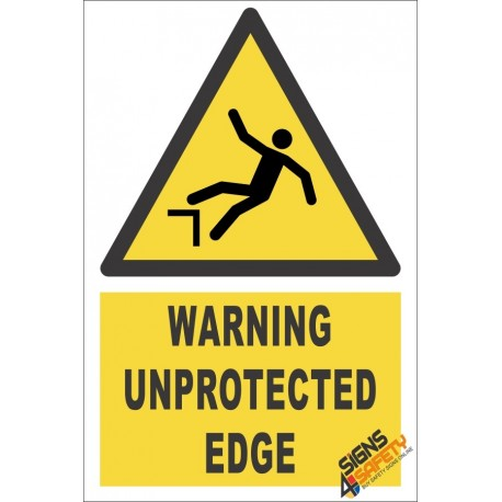 Unprotected Edge Warning Sign