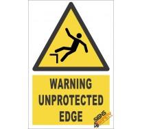 Unprotected Edge Warning Sign