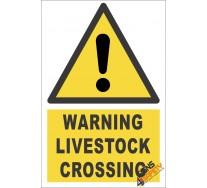 Livestock Crossing Warning Sign