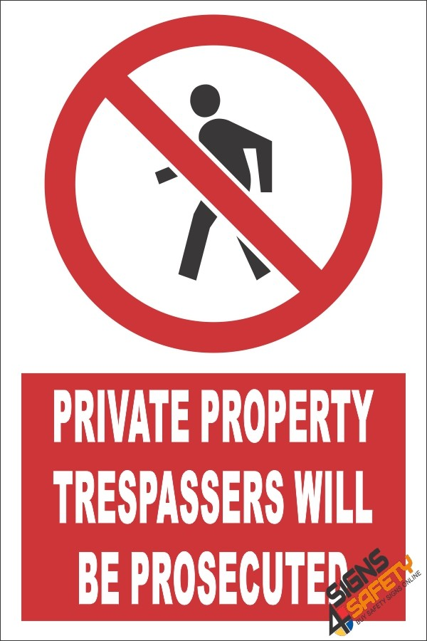 Nosa / SABS Private Property, Trespassers Will Be Prosecuted Sign, Farm  Signs South Africa
