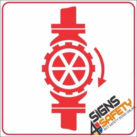 Free Download, Sprinkler Stop Valve Sign