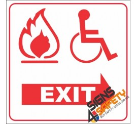 Free Download, Disabled Fire Exit Sign