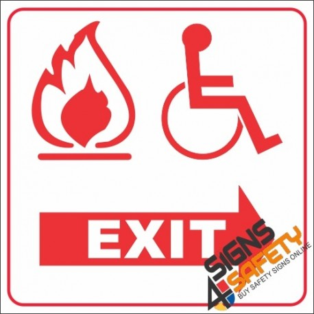 graphic about Printable Exit Signs identify Cost-free Obtain, Disabled Fireplace Exit Indication (Facebook11) South Africa