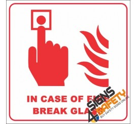 Free Download, In Case Of Fire Break Glass Sign