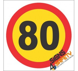 80km/h Speed Limit Hazchem Sign