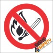 No Open Flame Hazchem Sign