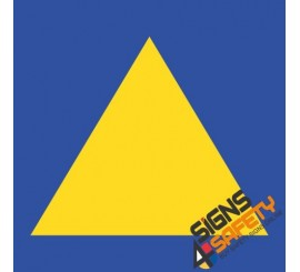 Yellow and Blue Towing Triangle Sticker