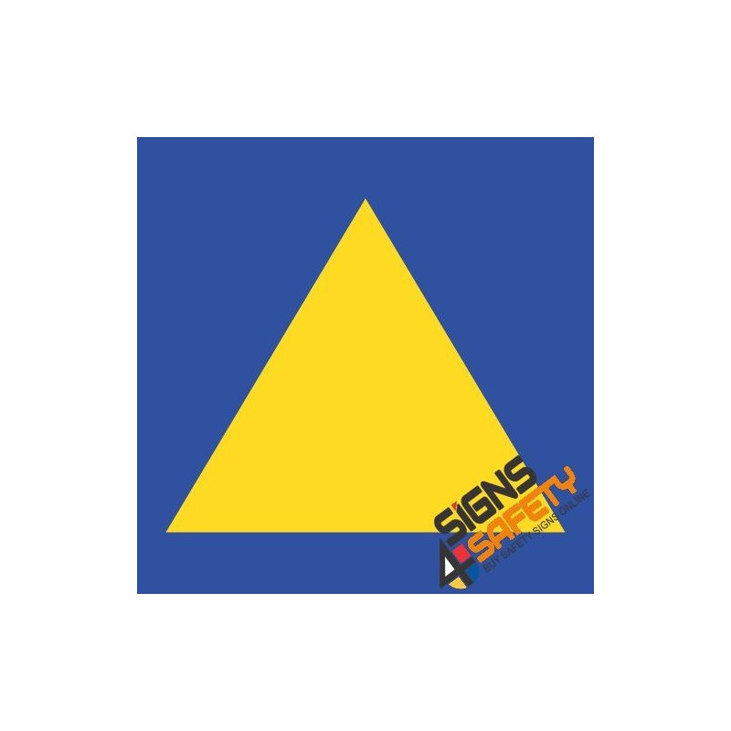 Nosa / SABS Yellow and Blue Towing Triangle Sticker Online South Africa