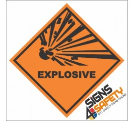 Explosive Hazchem Diamond Sign