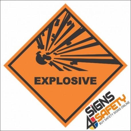 Explosive Hazchem Diamond Sign