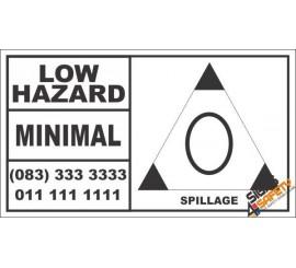 Low Hazard Spillage Hazchem Sign (Truck)