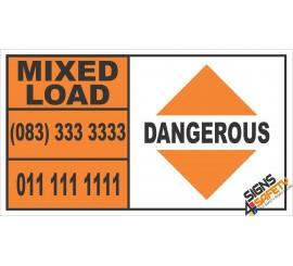 Dangerous Mixed Load Hazchem Sign
