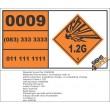 UN0009 Incendiary Ammunition Hazchem Placard