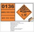 UN0136 Mines With Bursting Charge Hazchem Placard