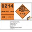 UN0214 Trinitrobenzene, Dry Or Wetted Hazchem Placard