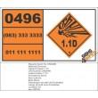 UN0496 Octonal (1.1D) Hazchem Placard