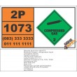 UN1073 Oxygen, Refrigerated Liquid, (Cryogenic Liquid), Compressed Gas (2), Hazchem Placard