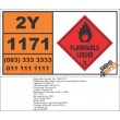 UN1171 Ethylene Glycol Monoethyl Ether, Flammable Liquid (3), Hazchem Placard