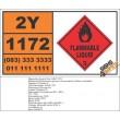 UN1172 Ethylene Glycol Monoethyl Ether Acetate, Flammable Liquid (3), Hazchem Placard
