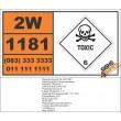 UN1181 Ethyl Chloroacetate, Toxic (6), Hazchem Placard