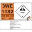 UN1182 Ethyl Chloroformate, Toxic (6), Hazchem Placard