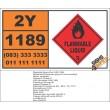 UN1189 Ethylene Glycol Monomethyl Ether Acetate, Flammable Liquid (3), Hazchem Placard