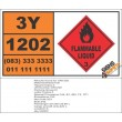 UN1202 Diesel Fuel, Flammable Liquid (3), Hazchem Placard
