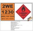 UN1230 Methanol Fuel, Flammable Liquid (3), Hazchem Placard