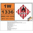 UN1336 Nitroguanidine, wetted or Picrite, Flammable Solid (4), Hazchem Placard
