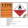 UN1370 Dimethylzinc, Spontaneously Combustible (4), Hazchem Placard
