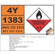 UN1383 Pyrophoric metals, n.o.s., or Pyrophoric alloys, n.o.s., Spontaneously Combustible (4), Hazchem Placard