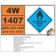 UN1407 Cesium or Caesium, dangerous when wet (4), Hazchem Placard