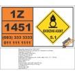 UN1451 Cesium nitrate or Caesium nitrate, Oxidizing Agent (5), Hazchem Placard