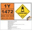 UN1472 Lithium peroxide, Oxidizing Agent (5), Hazchem Placard