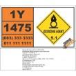 UN1475 Magnesium perchlorate, Oxidizing Agent (5), Hazchem Placard