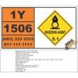 UN1506 Strontium chlorate, Oxidizing Agent (5), Hazchem Placard