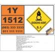 UN1512 Zinc ammonium nitrite, Oxidizing Agent (5), Hazchem Placard