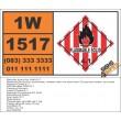 UN1517 Zirconium picramate, wetted, Oxidizing Agent (5), Hazchem Placard