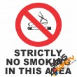 (NS3) Strictly No Smoking Sign