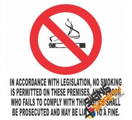 (NS4) No Smoking Legislation Sign