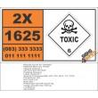 UN1625 Mercuric nitrate, Toxic (6), Hazchem Placard