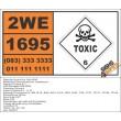 UN1695 Chloroacetone, stabilized, Toxic (6), Hazchem Placard