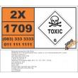 UN1709 2,4-Toluylenediamine, solid or 2,4-Toluenediamine, solid, Toxic (6), Hazchem Placard