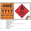 UN1717 Acetyl chloride, Flammable Liquid (3), Hazchem Placard