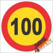 100km/h Speed Limit Reflective Hazchem Sign